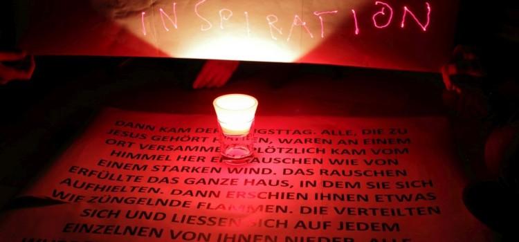 Lightpainting auf der Herbstkonferenz der württembergischen Jungpfarrer/innen