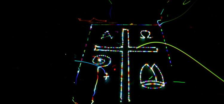 Lightpainting in der Walterichskirche Murrhardt