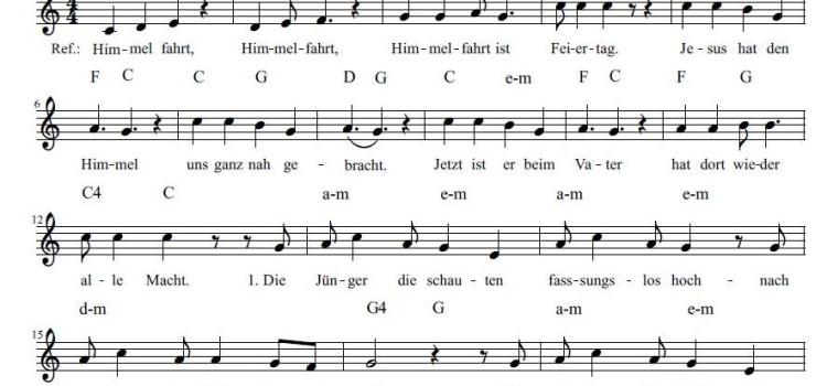 Lied zu Himmelfahrt