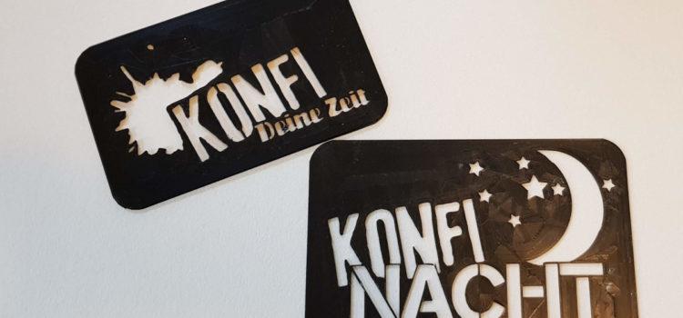 Konfi-Logo-Schablone