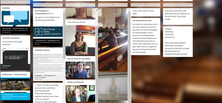 Gottesdienst interaktiv – ein Experiment mit Padlet und Answergarden